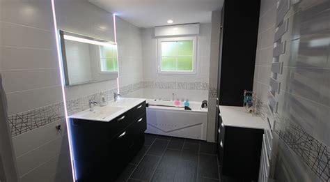 meuble vasque et coiffeuse sur mesure en noir et