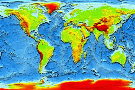 topographic map of the world earth topography image