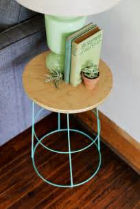 Diy Side Table diy tomato cage side table
