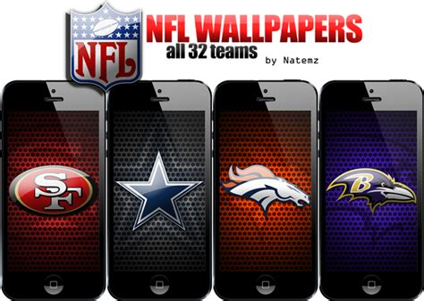 wallpaper iphone 5 nfl iphone 5 nfl wallpapers all 32 teams iphone ipad