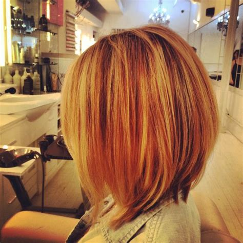 bob shortcuts long bob hilighted aveda colour by krystal rodriguez