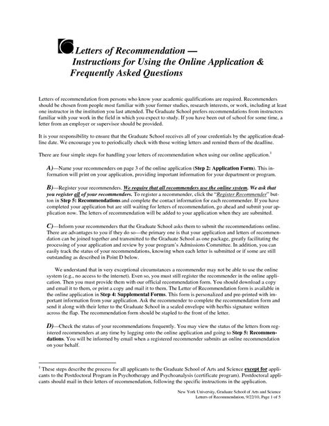 Pitzer College Letter Of Recommendation letter of recommendation for graduate school letter of