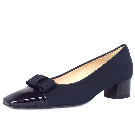 heeled shoes kaiser beli s low heel navy court shoe with