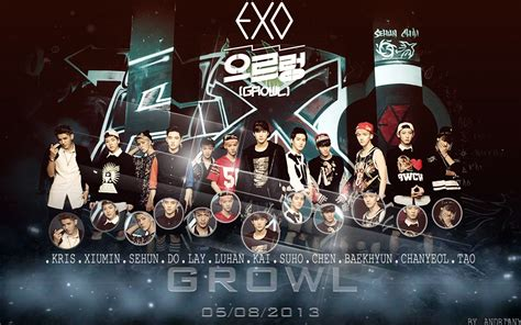wallpaper exo growl exo growl treaser wallpaper by andriani sone3