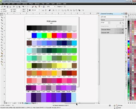 corel draw x5 background color creating a color chart for coreldraw x4 and x5 youtube