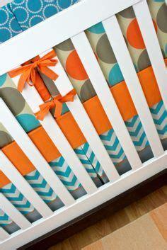Ready Stelan Kulot Orange Grey baby boy crib bedding set gray green and navy arrows ready