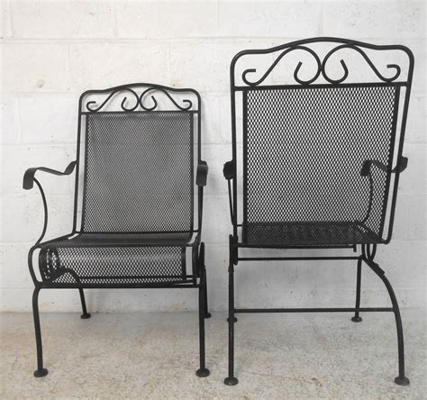 Cast Iron Patio Chairs Set Of Ornate Cast Iron Patio Chairs For Sale At 1stdibs