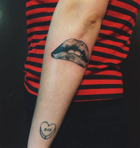 lips tattoo on wrist beautiful tattoos for and ohh my my