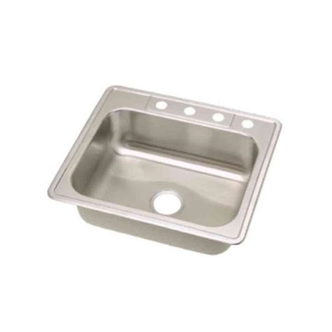 Dayton Kitchen Sinks Dayton Elite Top Mount Stainless Steel 25 In 3 Single Bowl Kitchen Sink Yow 849079