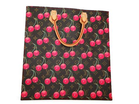 Louis Vuitton Louis Vuitton Murakami Cherry Blossom Cerises Sac Plat Handbag by Louis Vuitton Limited Ed Murakami Cerises Cherry Sac Plat Tote