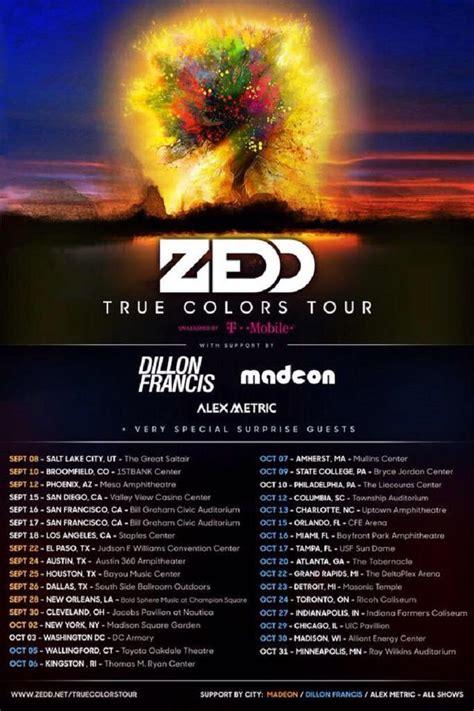 zedd tour zedd announces supporting artists for true colors tour