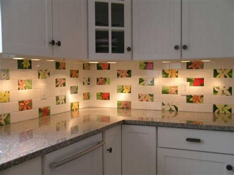tin backsplash for kitchen flower kitchen wallpaper that