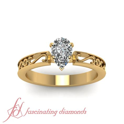 1 2 carat pear shaped solitaire heirloom design