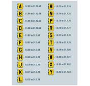 Car Registration Years  Suffix Number Plates Platehunter