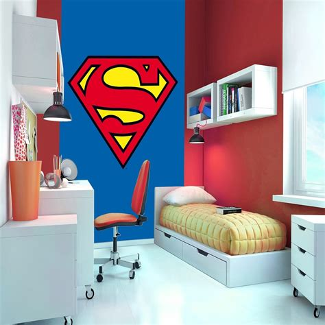 1 wall wallpaper mural superman badge s logo 1 58m x 2 32m