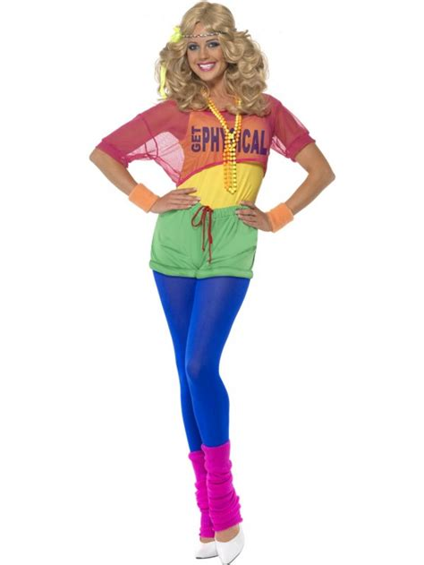 80 s dress lets get physical aerobics instructor costume all ladies