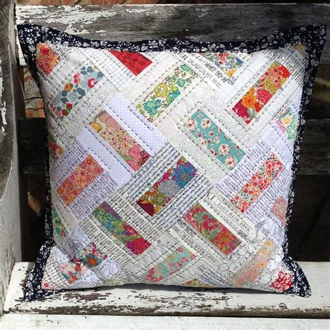 Tikki Patchwork - domino patchwork pillow or mini quilt by tikki patchwork