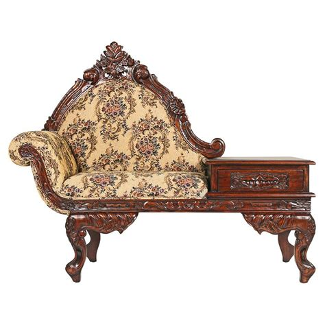antique gossip bench for sale telephone table with seat drawer reading chair for