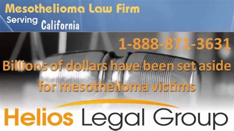 Mesothelioma Attorney California by California Mesothelioma Firm