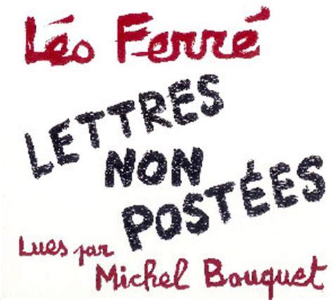 michel bouquet leo ferre l 233 o ferr 233 by scl leo ferre cd lettres non post 233 es