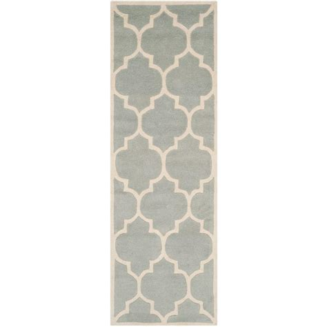 Pantofel Grey Ivory 2 safavieh chatham grey ivory 2 ft 3 in x 13 ft runner cht733e 213 the home depot