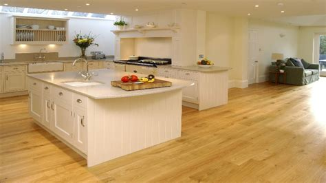 Engineered Wood Flooring Kitchens With Medium Maple Wood Flooring In Kitchen