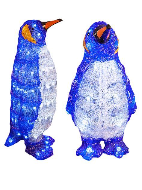 light up penguin christmas decoration led acrylic penguins light up indoor outdoor decoration pre lit ebay