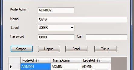 tutorial membuat form login di excel membuat form admin dengan visual basic 2010 pintar vb