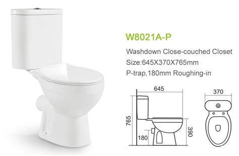 Water Closets Types by Apartment P Trap Two Toilet European Washdown