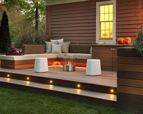 patio designs for small spaces wooden decks for front decks outdoor spaces rosengarten construction