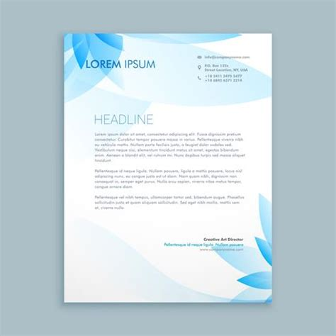 business letterhead stationary template vector design