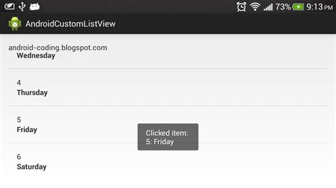 layoutinflater listview android coding implement onitemclicklistener for custom