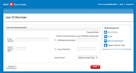 reset online banking password bmo bmo harris online banking sign in bankloginpage