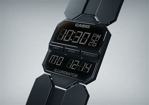 Jam Tangan Transformer Trendy beveled retro wristwatches casio e series concept