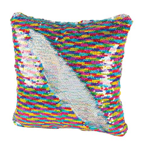 Wholesalers For Home Decor by Magic Sequin Pillow Rainbow Silver
