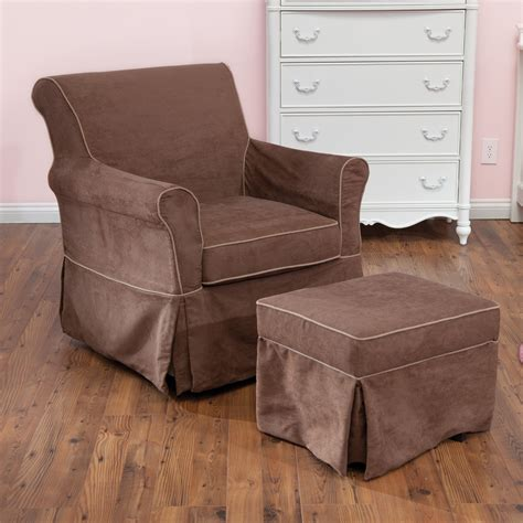 Nursery Gliders And Ottomans Dorel Asia Swivel Glider And Ottoman Set Gliders Nursery Rockers At Hayneedle