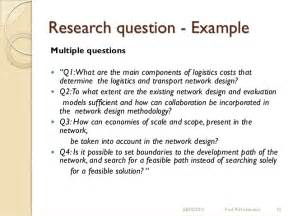 Thesis Research Question Examples Research Questions And Research Objectives