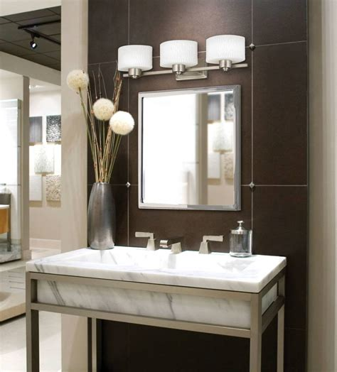 Designer Bathroom Light Fixtures by 14 Great Bathroom Lighting Fixtures In Brushed Nickel