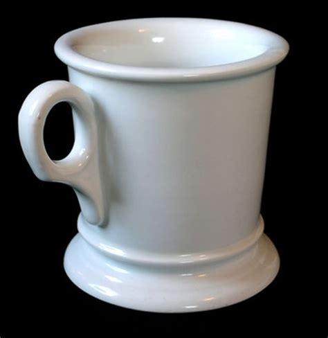 Porcelain Coffee Mugs beautiful antique white ironstone german shaving mug 1900