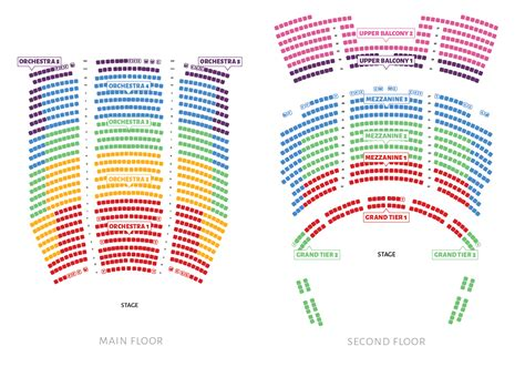 theatre seating chart seating chart ballet west