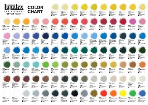 new liquitex spray paint color chart paint colors colors and color charts