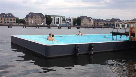 berlin germany august  outdoor swimming pool