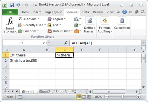 Excel Format Cleaner 2007 | ms excel how to use the clean function ws