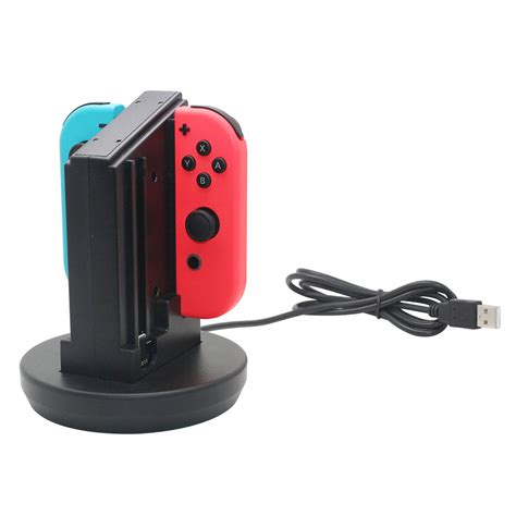 nintendo switch charging light joy con controllers charging dock station w led light for