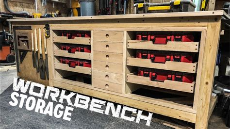 ultimate outfeedworkbench storage build youtube