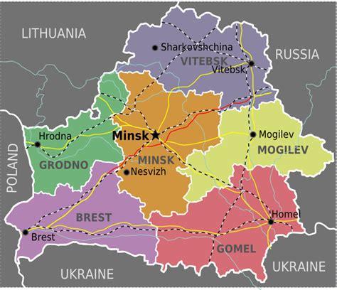 political map of belarus mapsof netbelarus maps