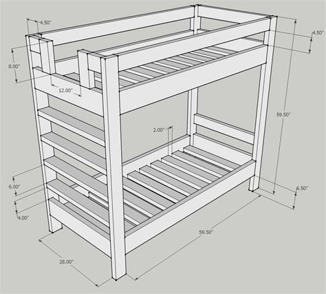 Length Of Bed by Bunk Bed Dimensions Anthropometric Measures Bunk Bed Dimensions