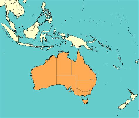 map of countries in australia countries surrounding australia picture image by