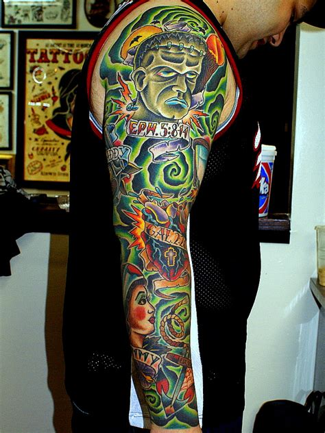 life and death tattoos sleeve and collection