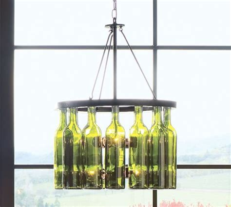Glass Bottle Chandelier Authentic Wine Bottle Chandelier